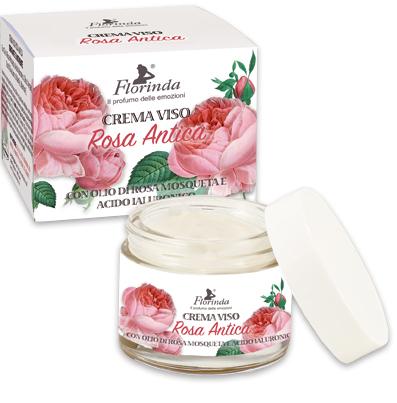 Crema viso con olio di rosa mosqueta