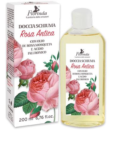 Doccia schiuma  con olio di rosa mosqueta