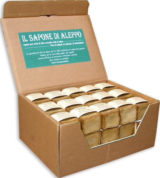 Expo sapone di aleppo  con il 25% di olio di alloro