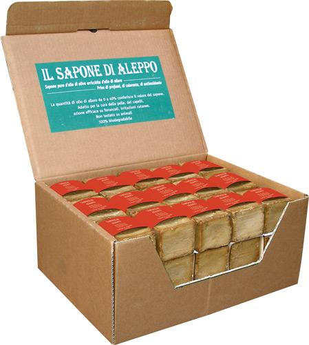 Expo sapone di aleppo  con il 45% di olio di alloro