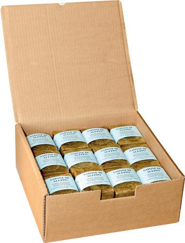 Expo sapone di aleppo  con il 30% di olio di alloro
