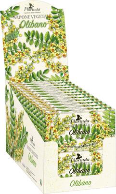 Espositore sapone vegetale olibano