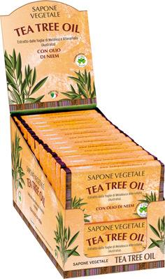 SAPONE VEGETALE 100 grammi  a base di Tea Tree Oil e Olio di Neem