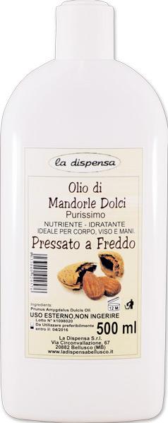Olio di mandorle dolci purissimo pressato a freddo