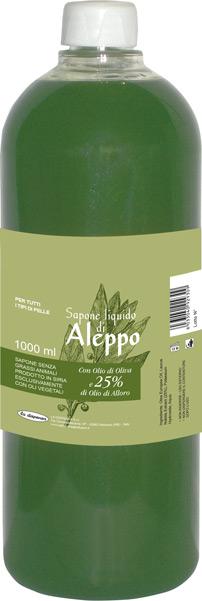 Ricarica Sapone di aleppo liquido con il 65% di olio d'oliva e il 25% di olio di Alloros