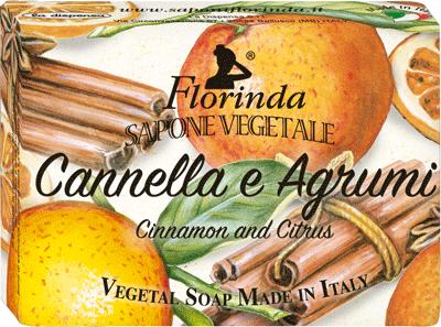 sapone vegetale cannella e agrumi