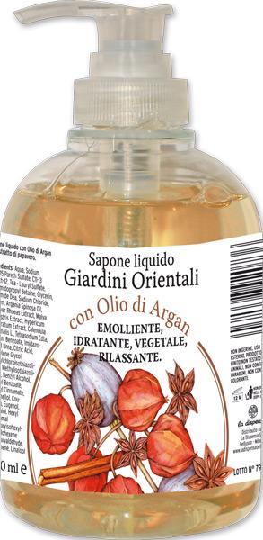 Sapone liquido giardini orientali con olio di argan