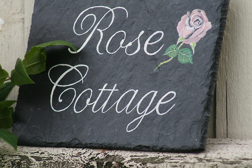 Rose Cottage house sign