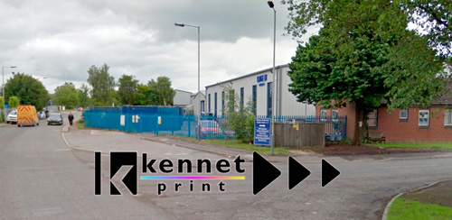Road leadning to Kennet Print, Unit 7-8 Hopton industrial Estate.