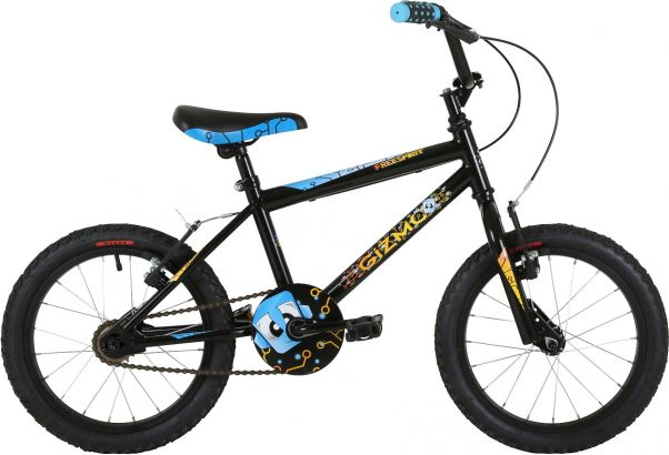 "Freespirit Gizmo 16"" Boys Pavement Bike Black"