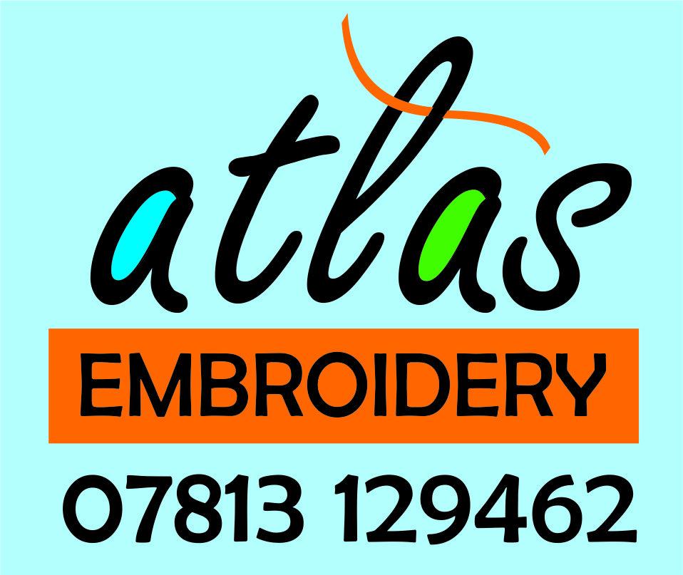 Atlas Embroidery Logo Design