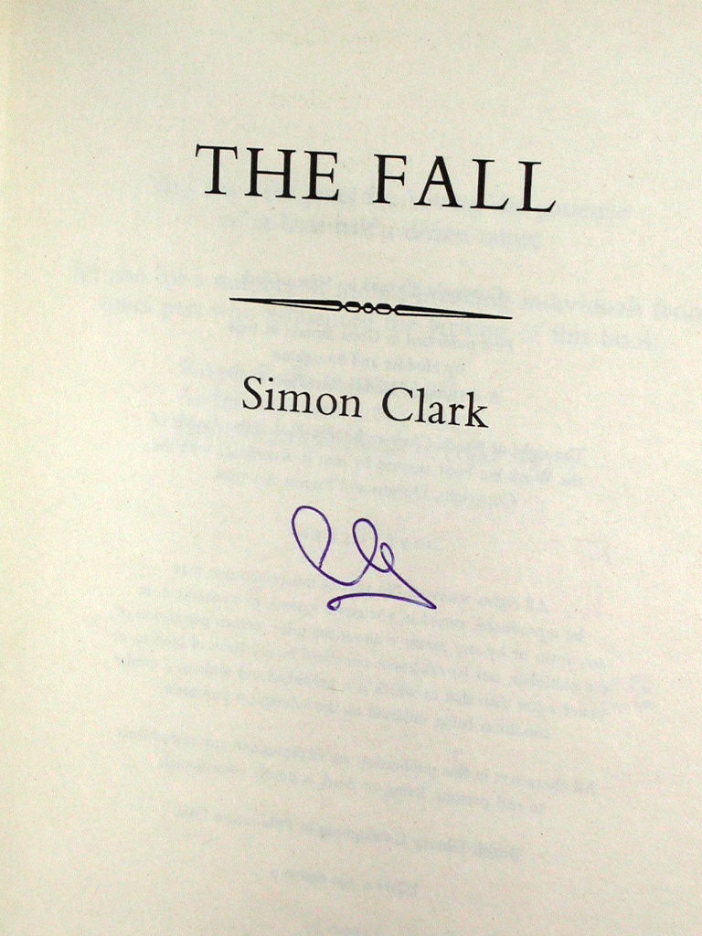 The Fall Signed UK 1st Edition