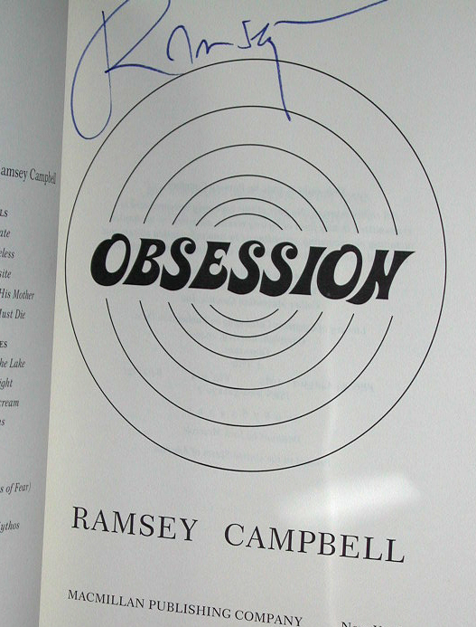 Obsession Signed US 1st Edition