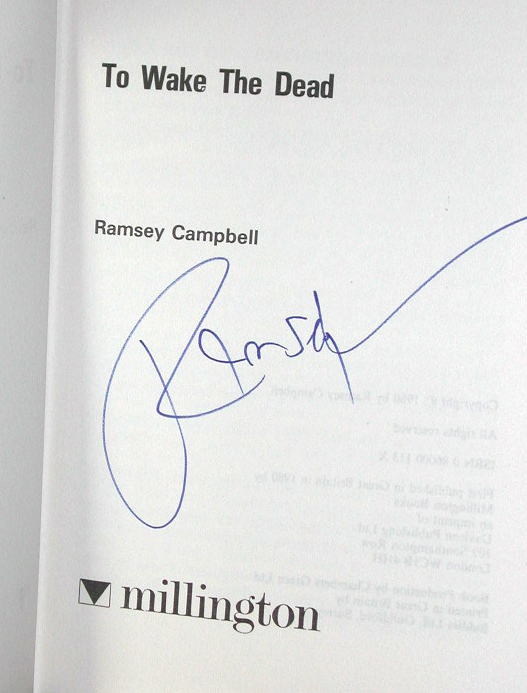 To Wake The Dead Signed UK 1st Edition