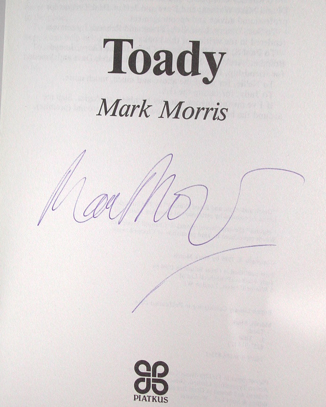 Toady Signed UK 1st Edition