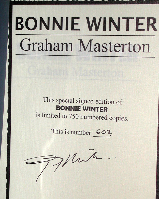 Bonnie Winter Signed Limited Edition