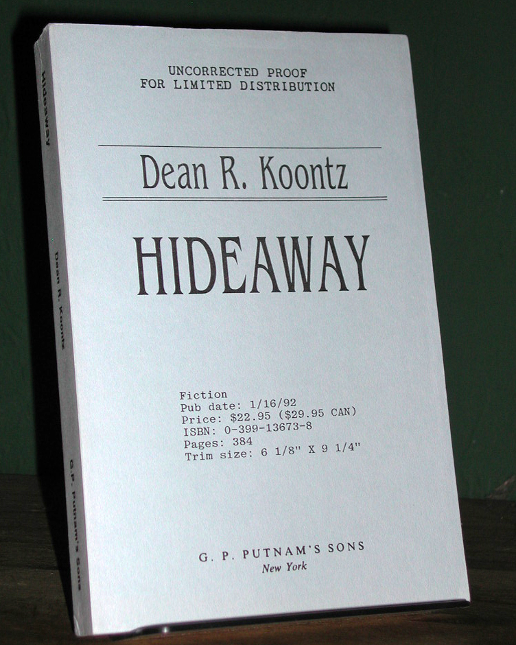 Hideaway Signed US Proof