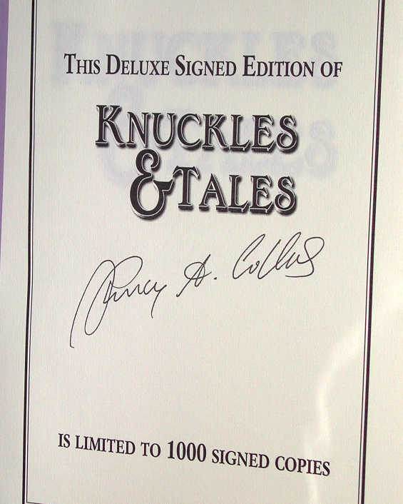 Knuckles & Tales Signed Limited Edition