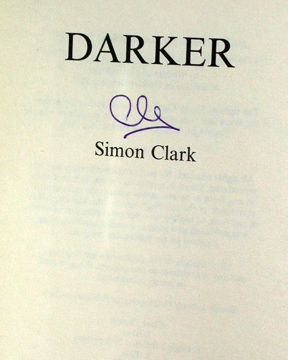 Darker Signed UK 1st Edition