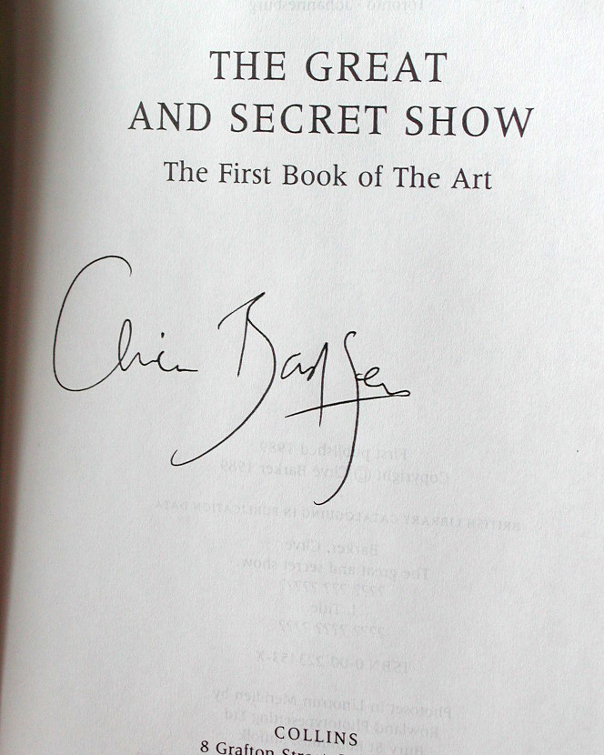 The Great And Secret Show Signed UK Proof