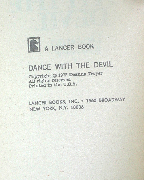 Dance With The Devil US 1st PB