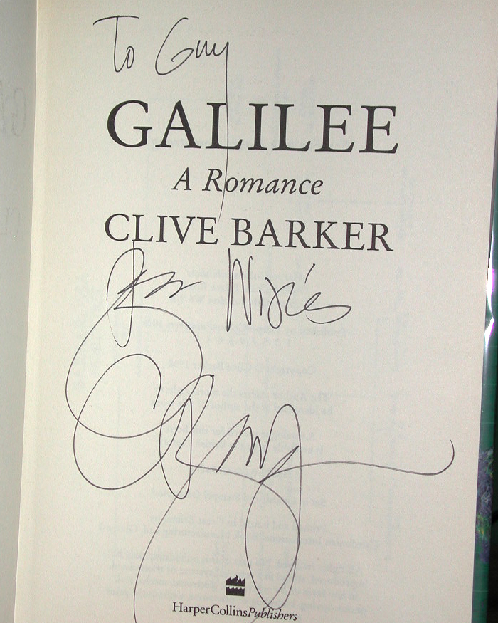 Galilee Signed UK 1st Edition