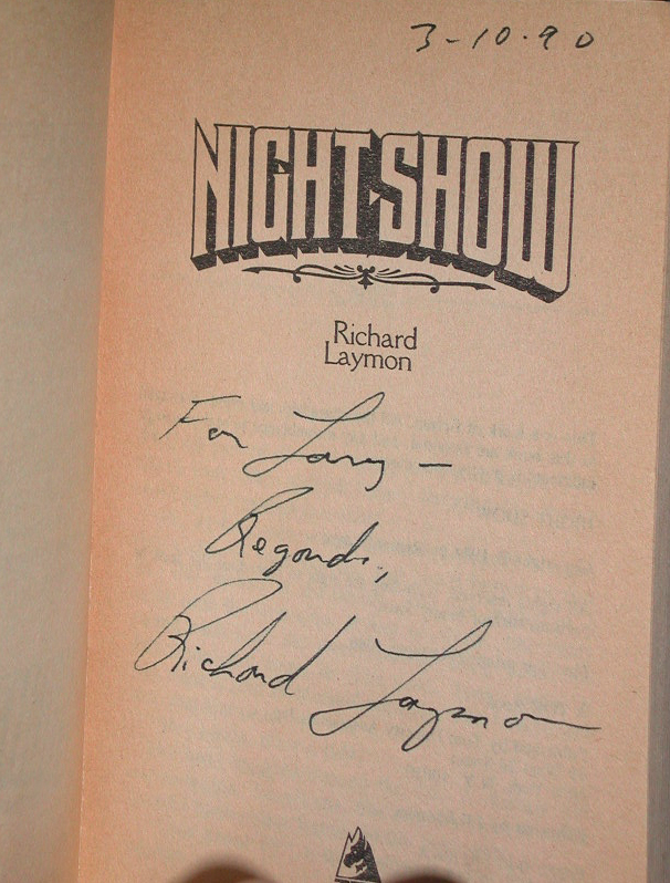 Night Show Signed US PB