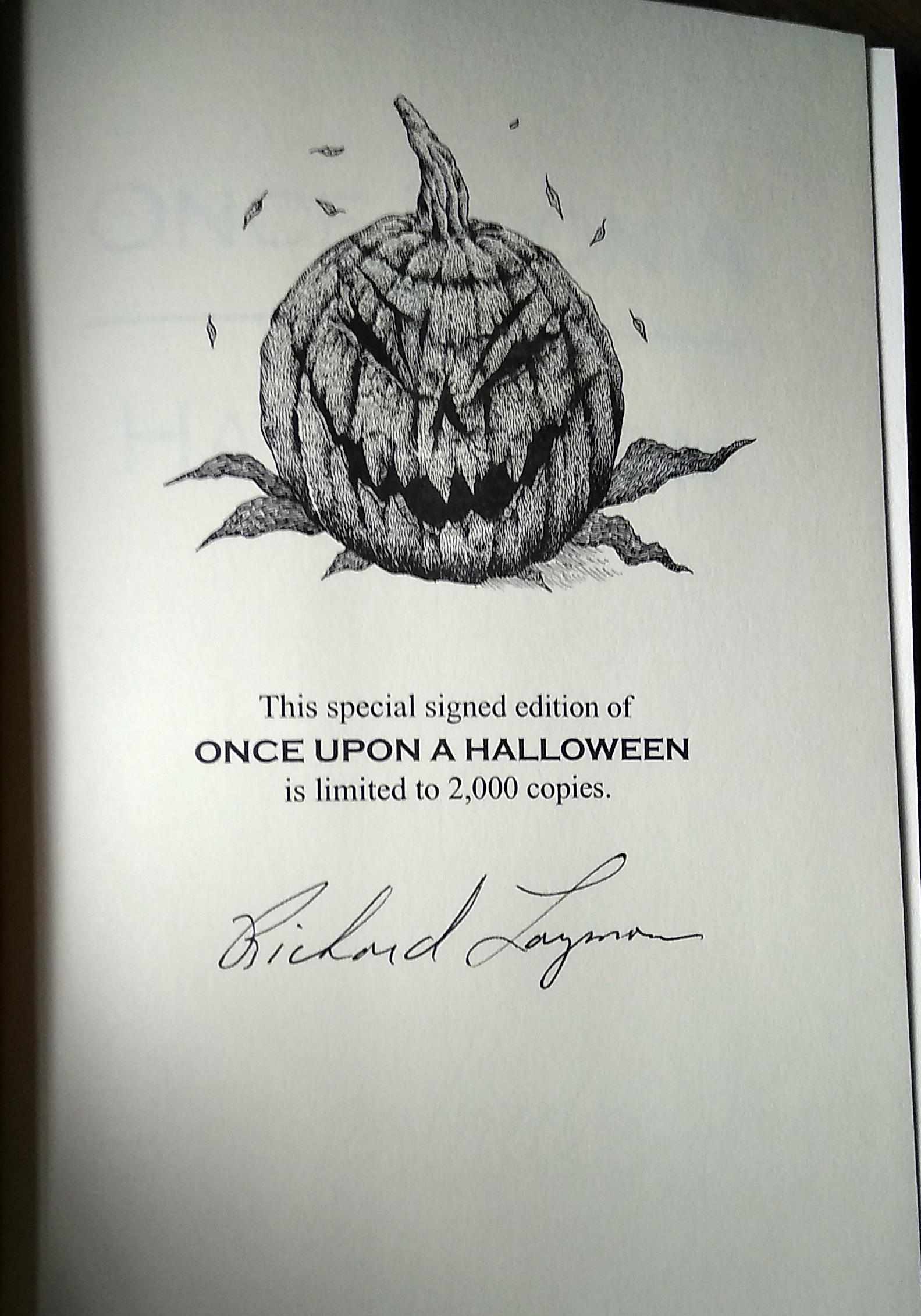 Once Upon A Halloween Signed Limited Edition