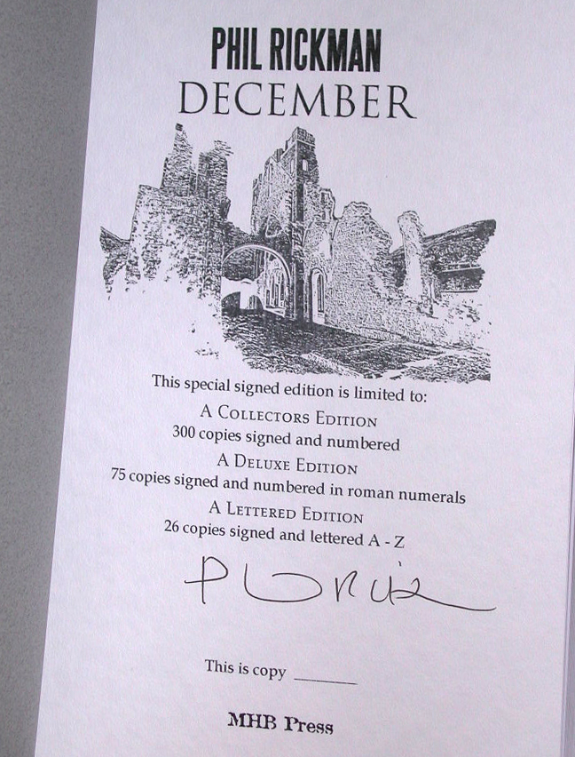 December Signed Collectors Edition