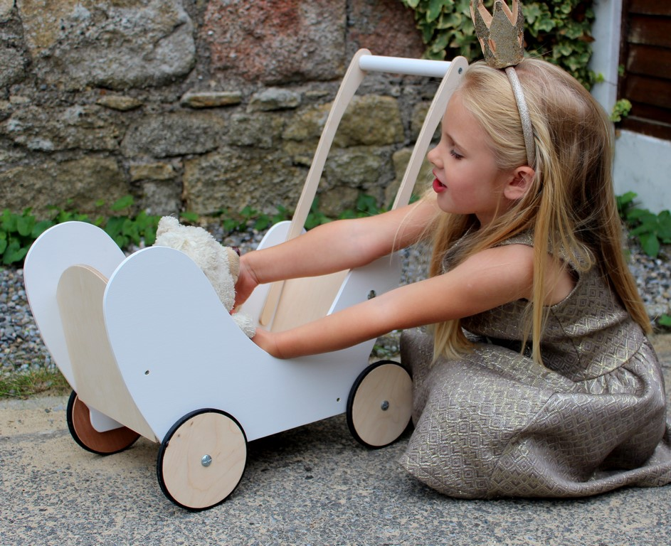 "Wooden Doll Pram ""Elma"""