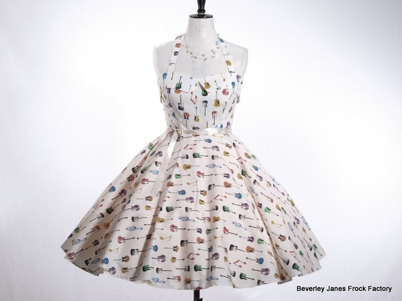 Cream Guitars Dress