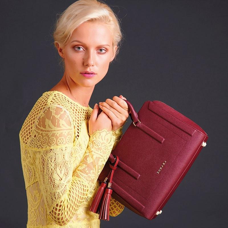 Camberwell Handbag By Zohara In Burgundy