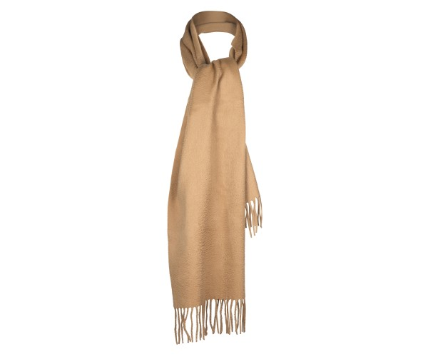 100% Cashmere Scarf by Lona in Camel