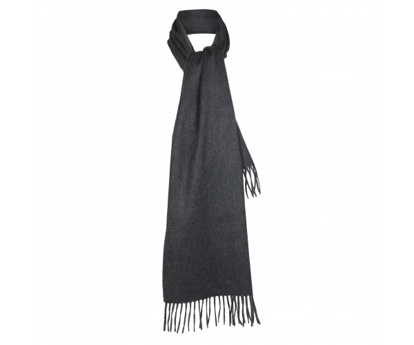 100% Cashmere Scarf by Lona in Charcoal