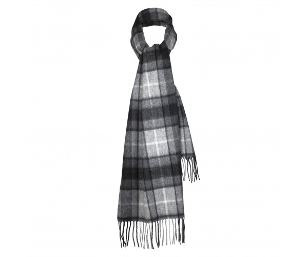 Grey Buchanan 100% Cashmere Scarf by Lona