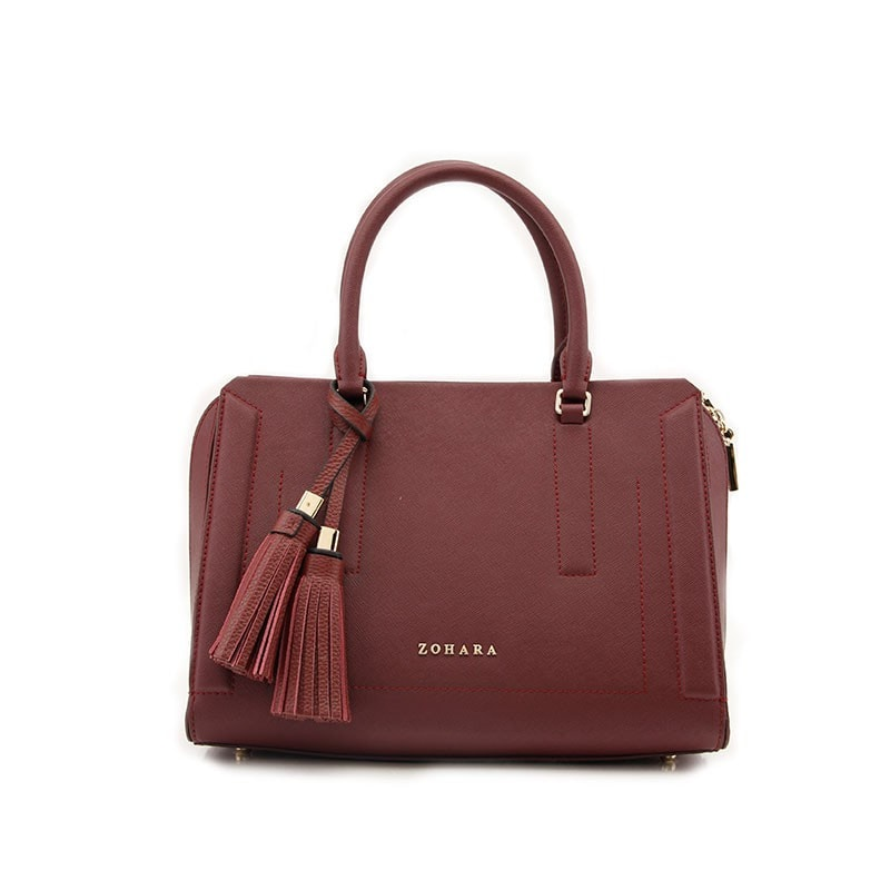 Camberwell Handbag by Zohara in Burgundy