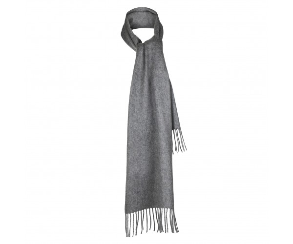 100% Cashmere Scarf by Lona in Mid Grey