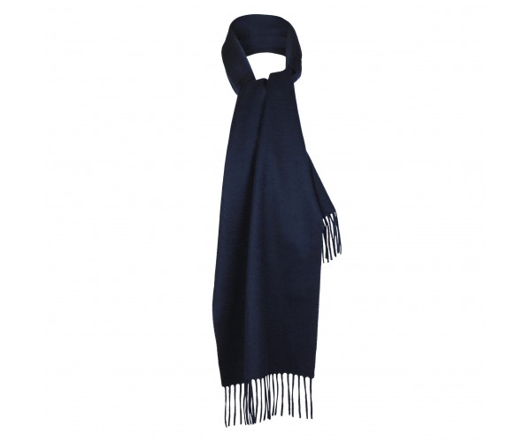 100% Cashmere Scarf by Lona in Navy
