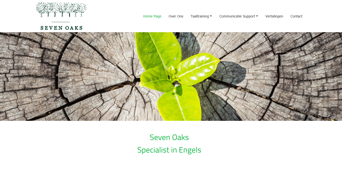 Nieuwe website Seven Oaks Productions is een feit!
