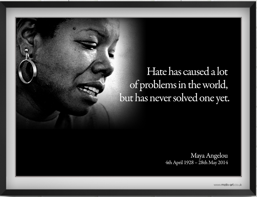 Hate has caused...