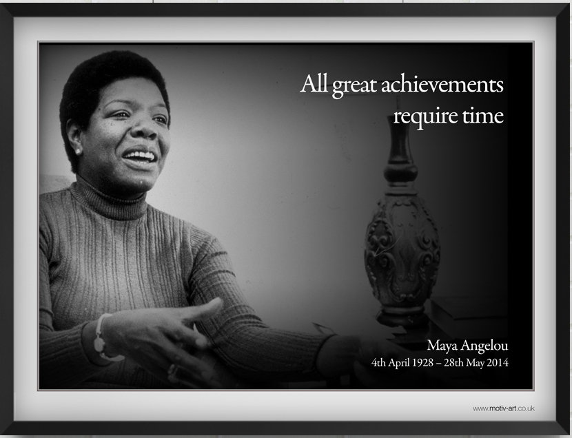 All great achievements...