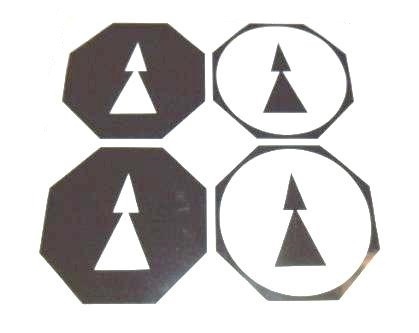 Crane Directional Sticker Set (2905019)