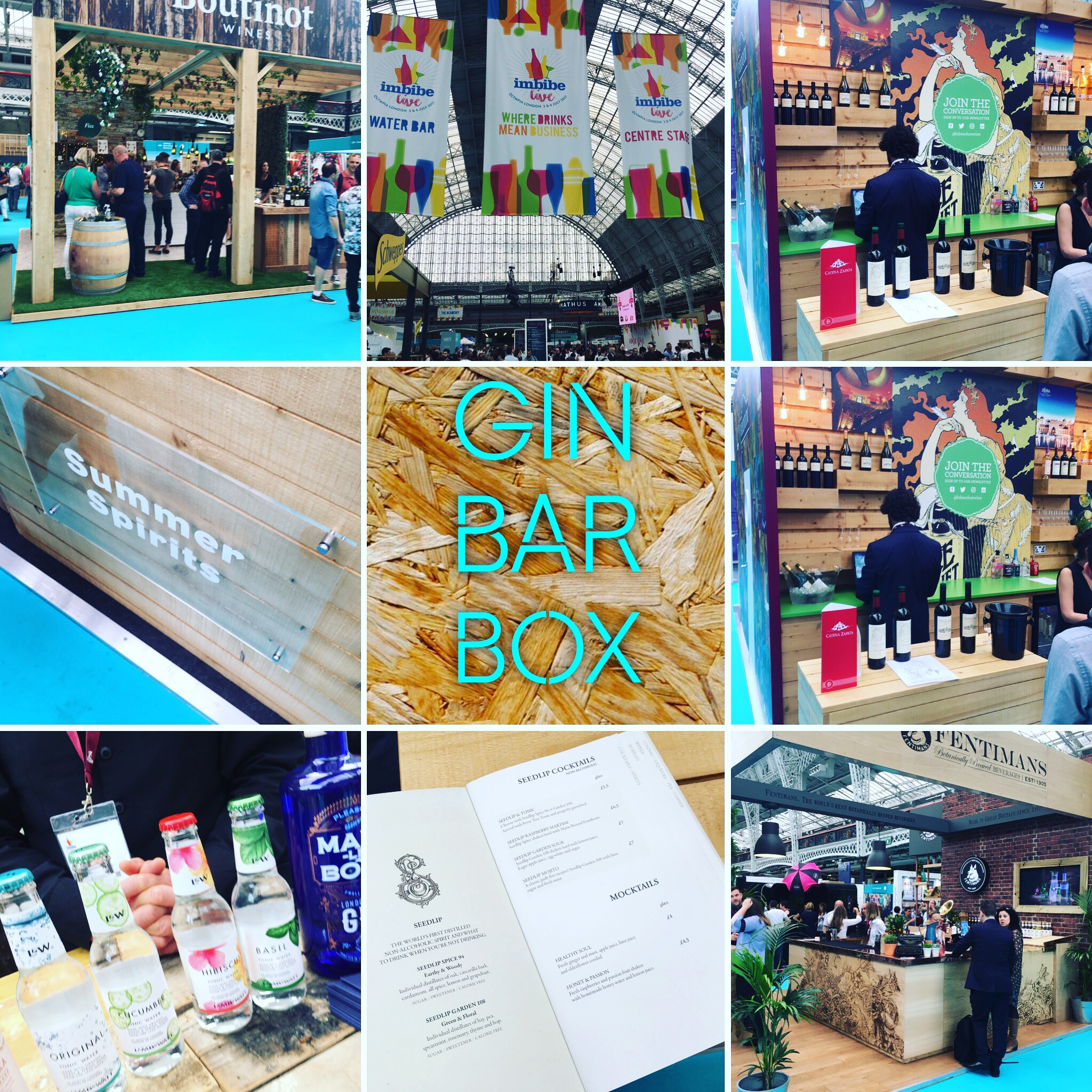 First full Gin Bar Box Business connections trip for Simon and Sarah the GinWhisperer Team at Olympia
