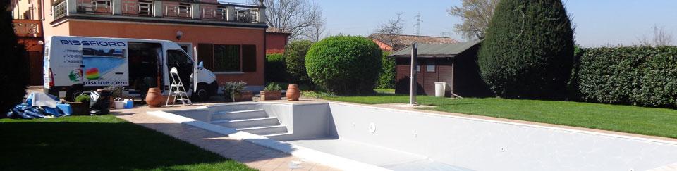 Sostituzione telo pvc e riparazione rivestimento piscina - Riparazione telo piscina ...