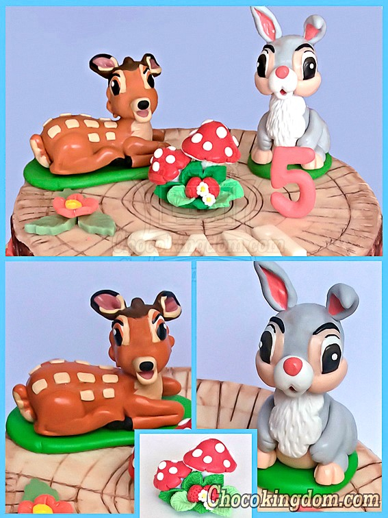 Bambi and Thumper Cake Topper
