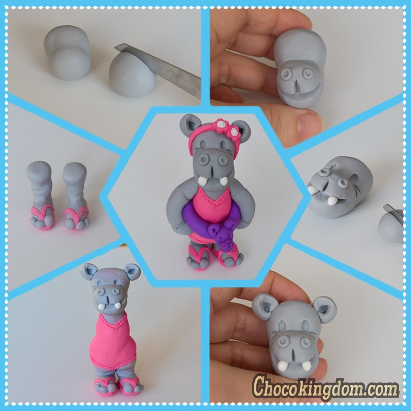 Chocokingdom Hippo Girl Cake Topper Tutorial