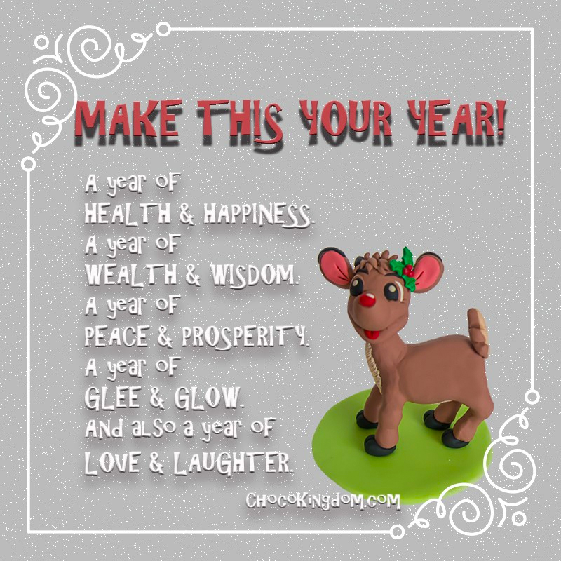 Reindeer New Year Resolution
