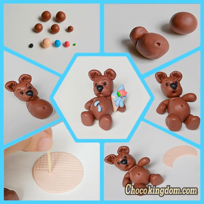 Teddy Bear with Ice Cream Tutorial
