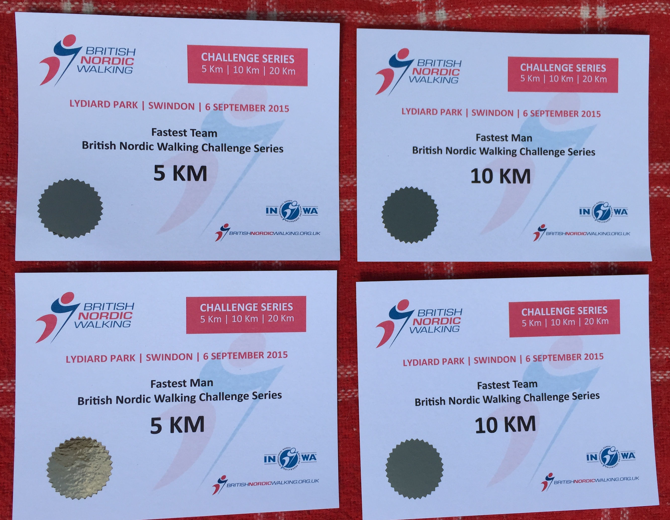 Our racing certificates