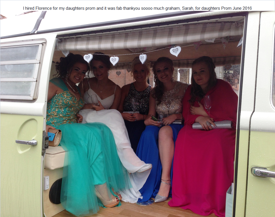 I hired Florence for my daughters prom and it was fab thankyou soooo much graham, Sarah, for daughters Prom June 2016